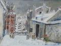 Maurice Utrillo, La maison de Mimi Pinson sous la neige