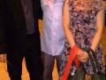 Steve Reich, con il direttore Jonathan Stockhammer e la fotografa Akiko Miyake al ricevimento seguito alla consegna del Leone d'Oro alla Carriera al Teatro alle Tese del'Arsenale di Venezia. Credits Valentina Zanaga