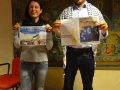 il mediatore culturale Nabil Labidi e l'interprete Anna Clementi del Coordinamento per il Medio Oriente  impegnati nella campagna a sostegno della liberazione del prigioniero palestinese Murad. Credits Valentina Zanaga