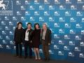 ) Gli attori Anton Yelchin, John Leguizamo, Milla Jovovich e il regista Michael Almereyda, 71. Mostra d'Arte Cinematografica, Venezia 2014. Credits Octavian Micleusanu