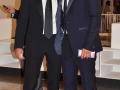 """Adriano Giannini con un amico in sala Grande alla prima del film """"Il Giovane Favoloso"""" alla 71. Mostra d'Arte Cinematografica di Venezia. Credits Valentina Zanaga"""