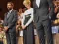 """Saverio Costanzo, Alba Rohrwacher, Adam Driver alla prima del film """"Hungry Hearts"""", alla 71. Mostra Internazionale d'Arte Cinematografica di Venezia. Credits Valentina Zanaga"""