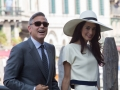 Arrivo di George Clooney e Amal Alamuddin a Palazzo Loredan per il rito civile. Credits Octavian Micleusanu