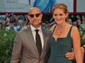 L'attore Stanley Tuccie e la moglie, l'attrice Emily Blunt, sul red carpet del film Spotlight. Venezia72 foto Valentina Zanaga