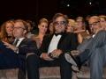 Il regista Thomas McCarthy, e gli attori Marc Ruffalo e Stanley Tucci alla prima in Sala Grande del film Spotlight. Venezia72 foto Valentina Zanaga